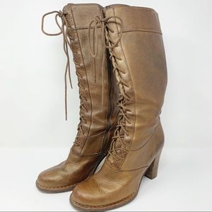 Frye Villager Lace Up Brown Boots 9